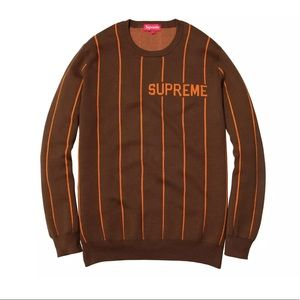 Supreme Crewneck Sweatshirt Brown Size M